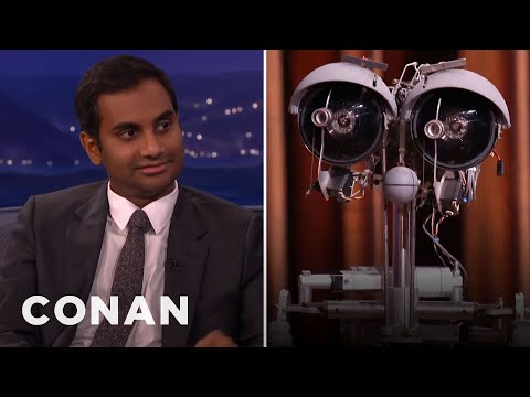 "Aziz Ansari Settles His ""Short Circuit"" Beef With Johnny Five   CONAN on TBS"