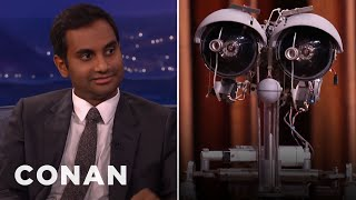 "Aziz Ansari Settles His ""Short Circuit"" Beef With Johnny Five  - CONAN on TBS"