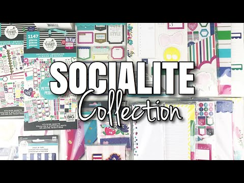SOCIALITE Happy Planner Girl Collection | At Home With Quita