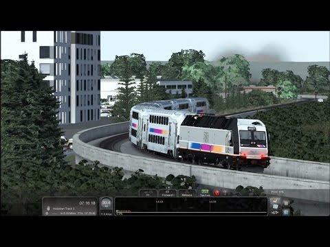 Train Simulator 2016 HD: NJT Bombardier MultiLevel Cab Car 7050 Leads Train 1150 (Suffern-Hoboken)