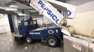 Watch how a Zamboni empties out at Pegula Ice Arena