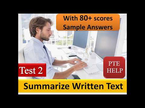 PTE Summarize Written Text with 80+ scores answers | Test 2