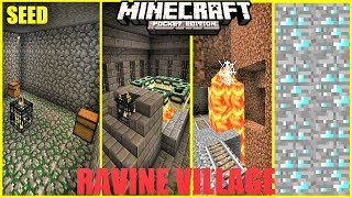 Minecraft PE -  This Village has Everything ! STRONGHOLD, MINESHAFT, DUNGEON & MORE ! SEED Mcpe 1.2