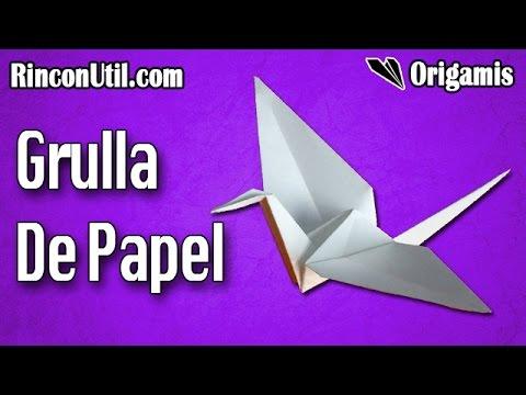 Grulla De Papel Grulla Origami Youtube