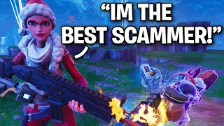 The SMARTEST Scammer in Season 10!! 😂 (Scammer Get Scammed) Fortnite Save The World