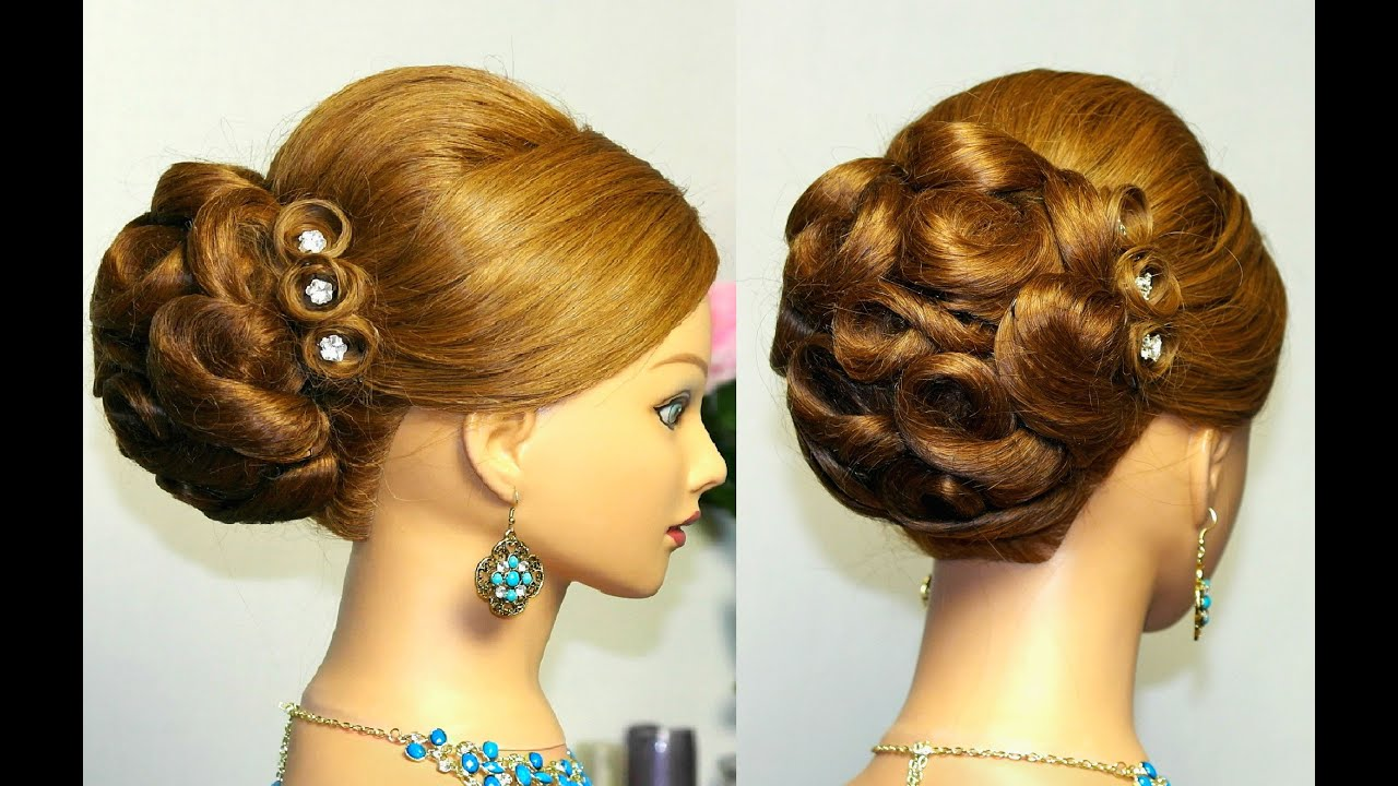 prom hairstyle for long hair. updo tutorial - youtube