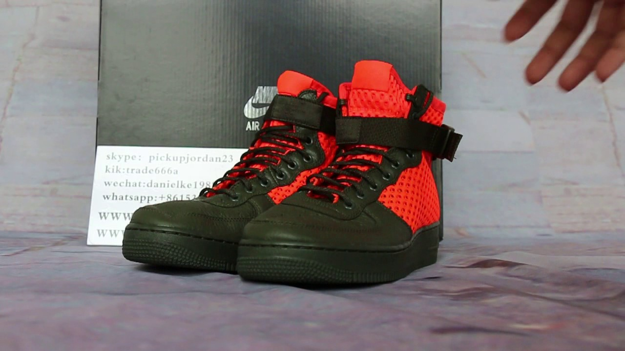 Nike Special Field Air Force 1 Mid Green Orange Review YouTube