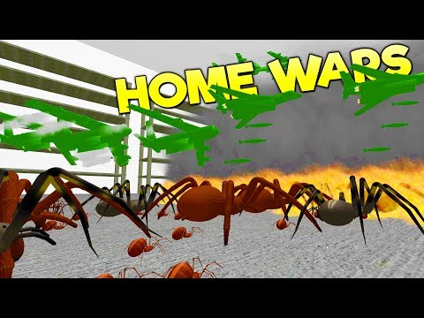 ARMY PLANES DROP BOMBS ON GIANT SPIDERS! Mines, Paratroopers, Campaign Battles - Home Wars Gameplay