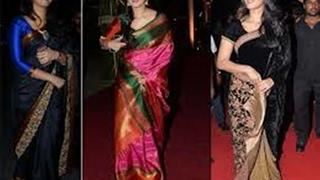 Anushka shetty saree collection