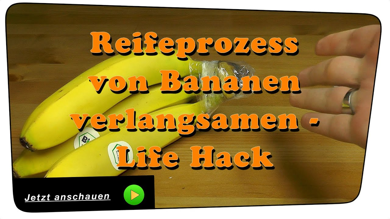 frischhaltetrick so verhindert man dass bananen braun werden life hack tutorial youtube. Black Bedroom Furniture Sets. Home Design Ideas