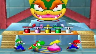 Mario Party 2 All Funny Minigames - Mario vs Yoshi vs Luigi vs Peach (Master CPU)
