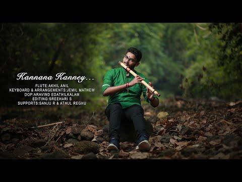 Kannaana Kanney|Viswasam|Akhil Anil |Flute Version| Sid Sriram|