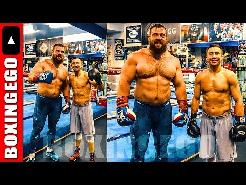 GENNADY GOLOVKIN PICTURED W- Biggest MAN to ever train at Abel's gym The Summit in Big Bear