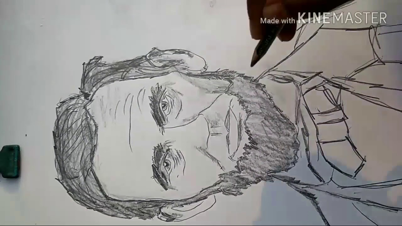 Abraham Lincoln Drawing Portrait And Sketch With 10square Easy Steps