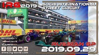 rFactor 2 - IRG Formula 2019 - Round 15 - Russian GP - Sochi Race - LIVESTREAM