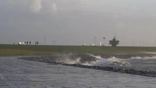 Sturmflut Nordsee 2016 - Sturmflut in Büsum an der Nordsee