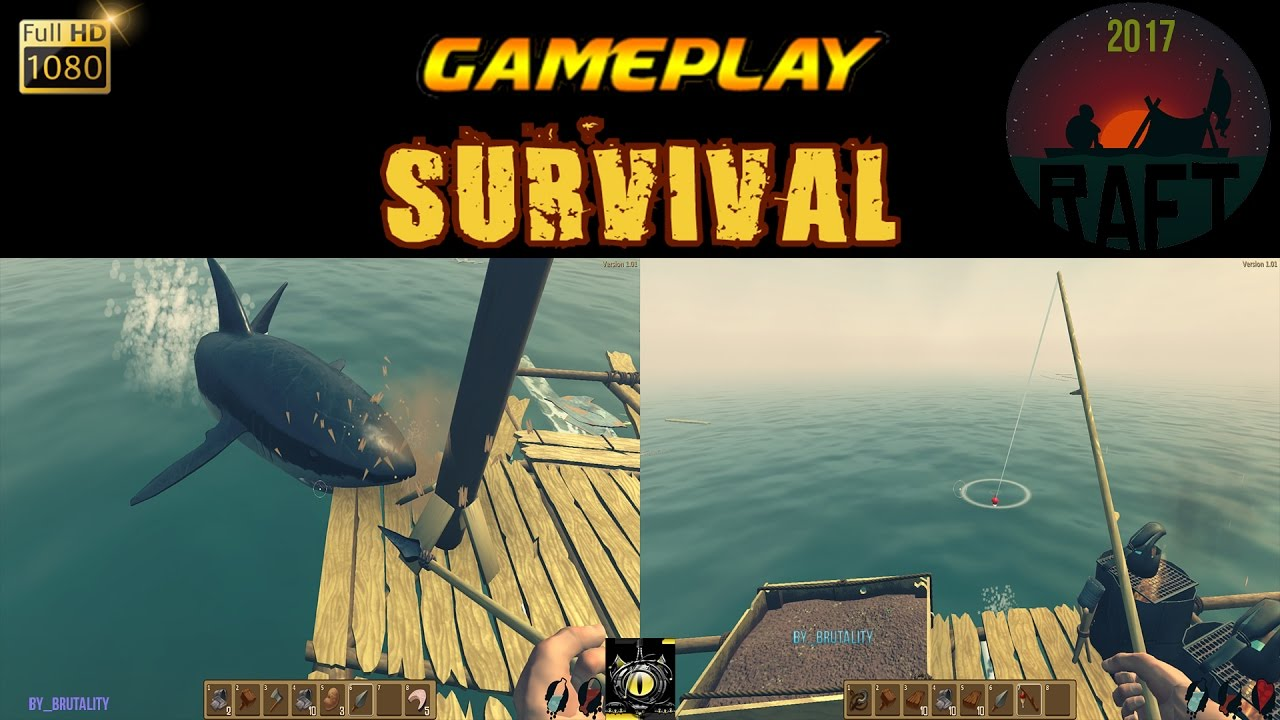 raft pc gameplay survival jeu de survie en haute mer 2017 tuto craft tips astuces fr youtube. Black Bedroom Furniture Sets. Home Design Ideas