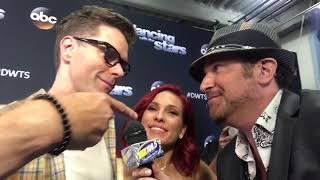 Bobby Bones and Sharna Burgess on set of