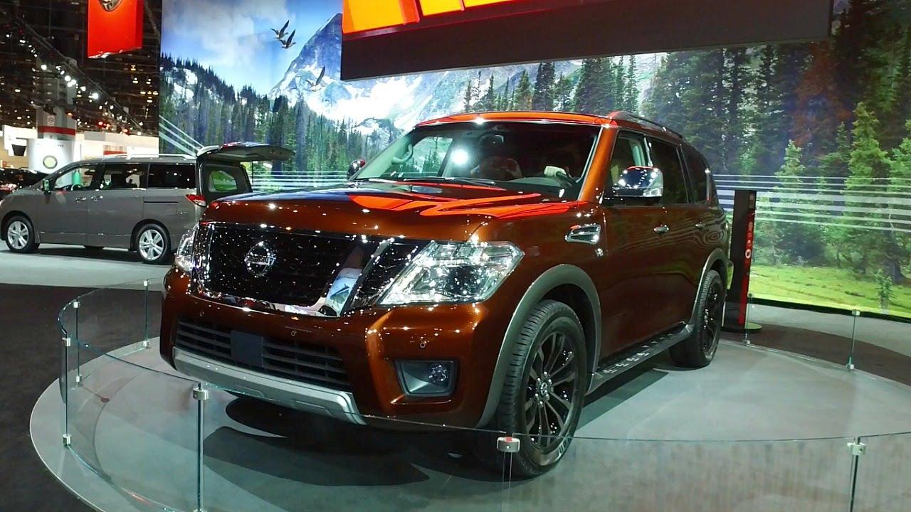 2017 Nissan Armada - 2016 Chicago Auto Show - YouTube