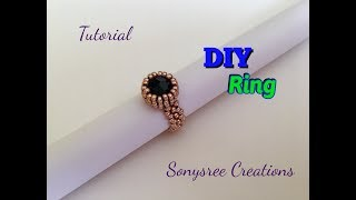 DIY Bazeled bead Ring 💍 with Only 11/0 seed beads