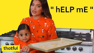 Kylie Jenner losing control of Stormi for 2 minutes straight