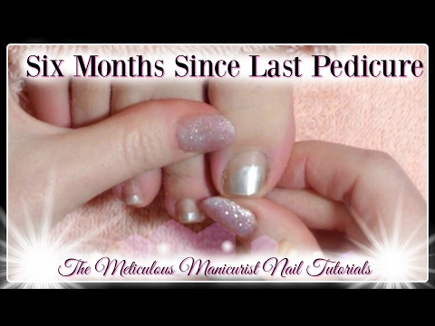 👣Pedicure Tutorial: How to Clean Toenails and Remove Excessive Dead Skin on Toenails👣