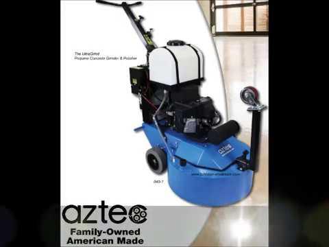 Aztec Ultra Grind Propane Concrete Floor Grinder PolishHoning 040-1