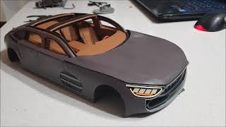 Постройка Модели Автомобиля Из Пластилина 13. Внешняя Обшивка (5 Часть)