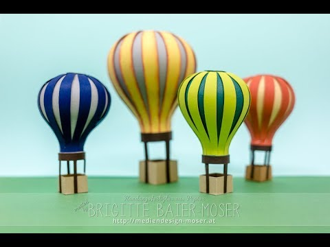 Hot Air Balloon made of Paper