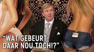 Prinsjesdag gaat helemaal mis: strippers leiden koning Willem-Alexander af