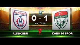 ALTINORDU 0-1 KARS 36 SPOR | MAÇ ÖZETİ HD | A SPOR | 24.10.2017