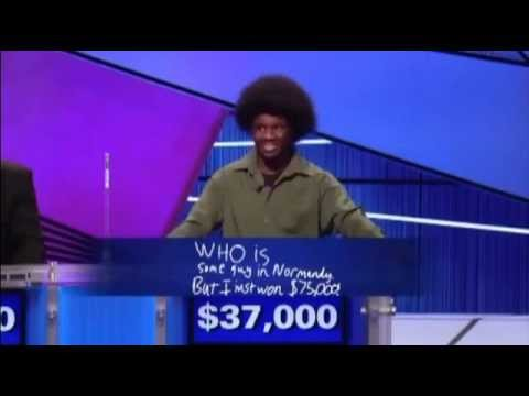 Best Final Jeopardy answer EVER!