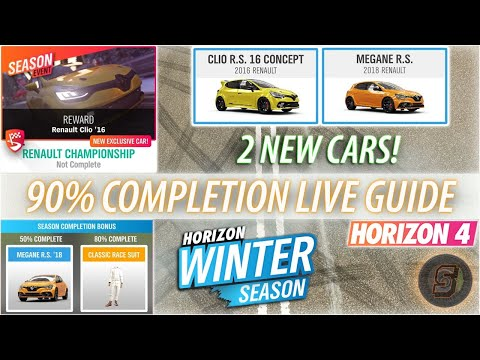 Forza Horizon 4 Winter Festival Playlist Guide How To Get Megane RS + Clio RS 16 Concept Horizon 4
