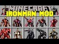 Minecraft IRON MAN MOD / CRAFT 50+ NEW POWERFUL IRON MAN SUITS! / Modded Mini-Game