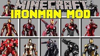 Minecraft IRON MAN MOD / CRAFT 50+ NEW POWERFUL IRON MAN SUITS! / Modded Mini-Game