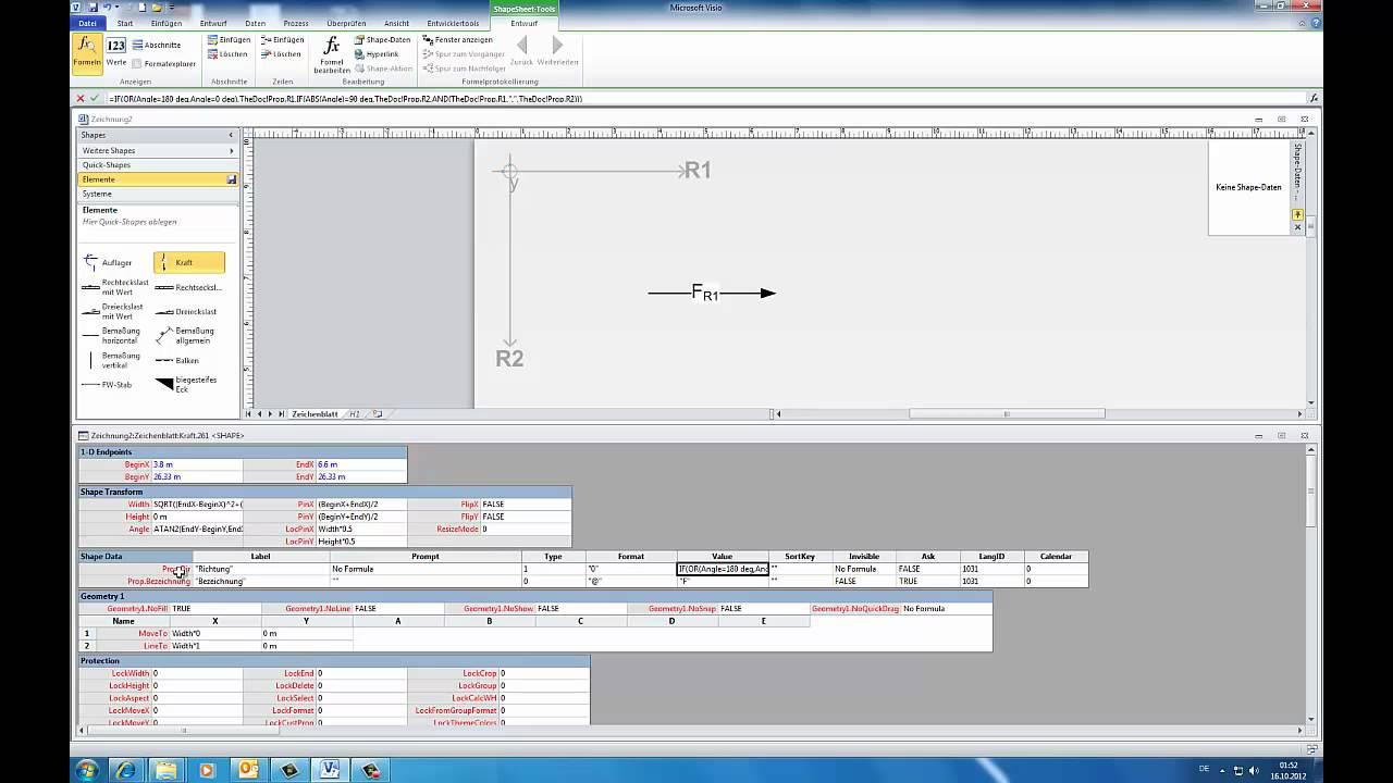 Statik Vorlage für MS Visio 2010 - YouTube