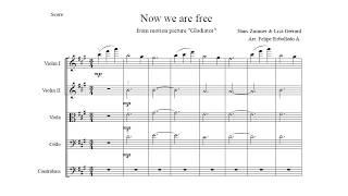 Now We Are Free - Hans Zimmer & Lisa Gerrard / String Arrangement Score