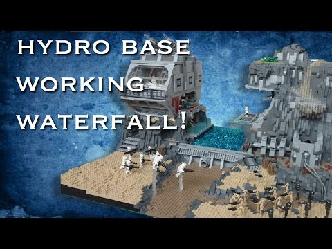 Lego Star Wars Hydro Base | Working Waterfall MOC