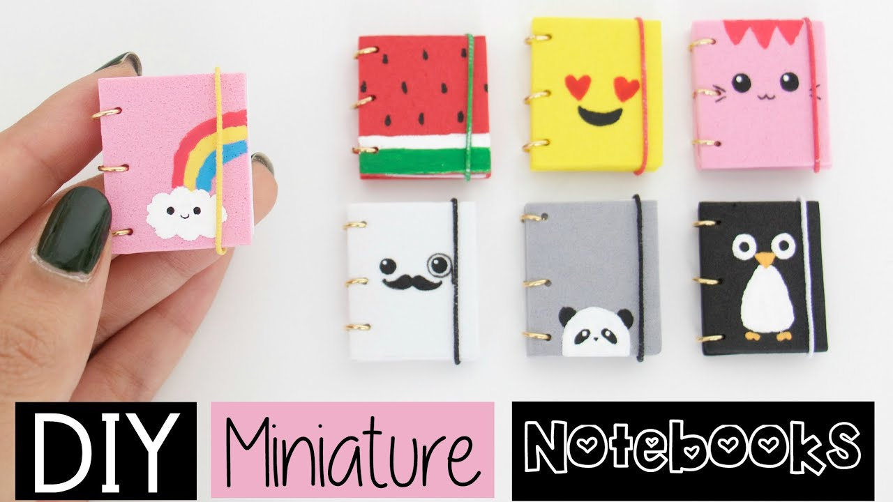 Diy mini notebooks four easy cute designs youtube solutioingenieria