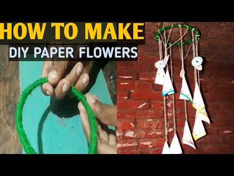 How to make DIY paper flowers easy step by step/jhalar kaise banaye