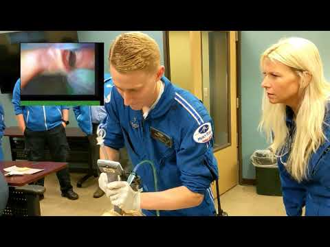 Flight Paramedic Beaux B. - Vomit Trainer Scene