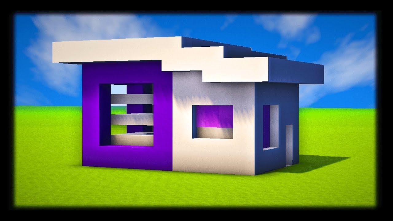 comment construire une petite maison moderne tuto build minecraft youtube. Black Bedroom Furniture Sets. Home Design Ideas
