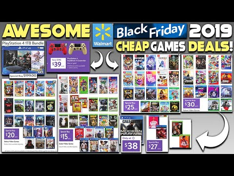AWESOME WALMART BLACK FRIDAY 2019 DEALS REVEALED - NEW PS4 GAMES INSANELY CHEAP!