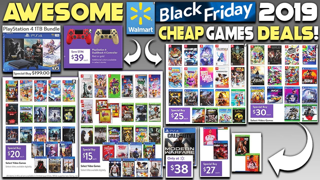 Awesome Walmart Black Friday 2019 Deals Revealed New Ps4 Games Insanely Cheap Youtube