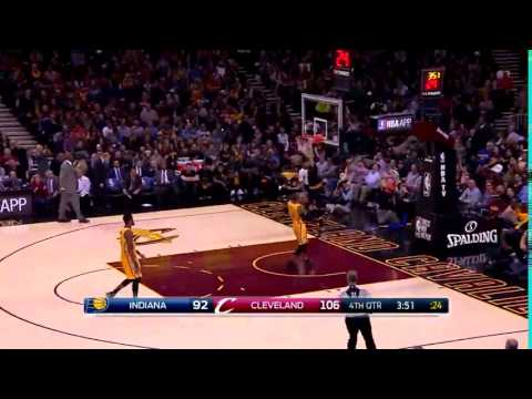 KYLE KORVER FIRST DUNK EVER AS A CLEVELAND CAVALIER (cavs vs pacers 2.15.17)