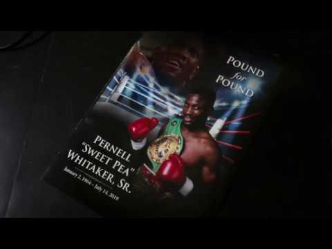 "Funeral for Pernell ""Sweetpea"" Whitaker held where he fought in Norfolk"