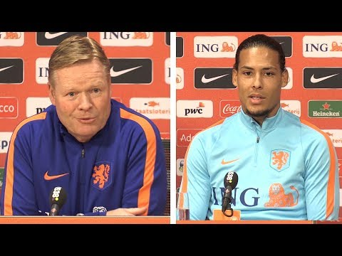 Ronald Koeman & Virgil van Dijk Press Conference - Netherlands v England - International Friendly