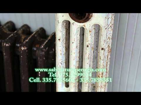 sabbiatura termisofoni radiatori
