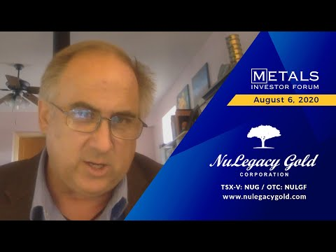 Quinton Hennigh, Advisor of NuLegacy Gold Corporation presents at the virtual MIF on August 6, 2020