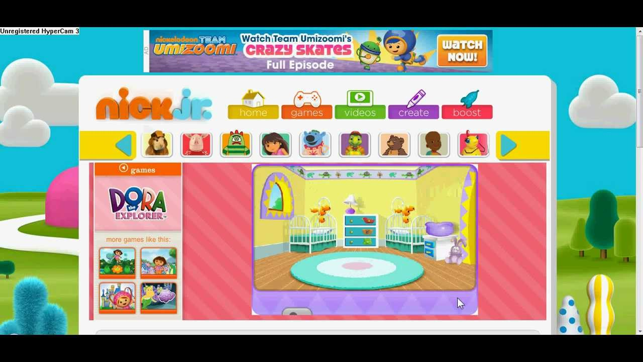 Nick Jr. Kids Games (Dora The Explorer) With Yasso Smurf - YouTube